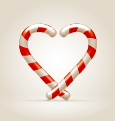 Sweetheart made of candy canes vector