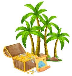 Treasure vector image