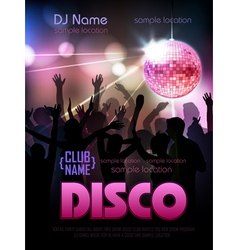 Disco background Disco poster vector image