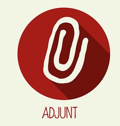 Adjunct icon vector