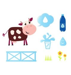 Cow milk vector
