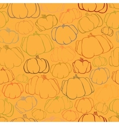 Pumpkin seamless orange pattern background vector