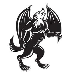 Kludde mythical belgian beast vector