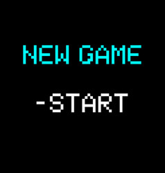 8 bit new game vector