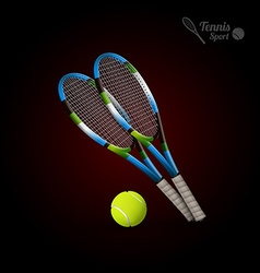 Tennis symbols as design elements tennis balls vector