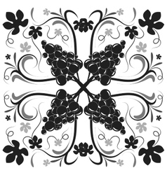 Beautiful black and white floral background vector
