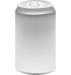Aluminun can vector