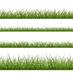 Green grass seamless pattern line vector
