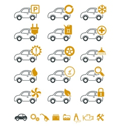 Car repair and service icons vector