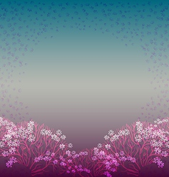 background with bush vector image vector image