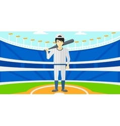 Baseball player with bat vector image vector image