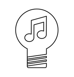 Bulb light with music note vector