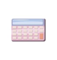 Calculator icon in cartoon style vector image