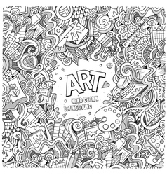 Cartoon doodles hand drawn art and craft vector
