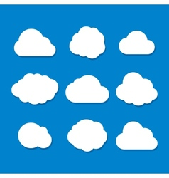 Cartoon Style Cloud Set vector image vector image