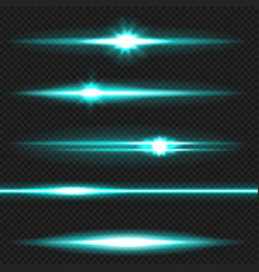 Cyanl aser beams pack vector
