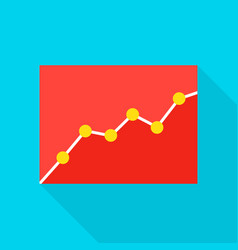 data analytics flat icon vector image