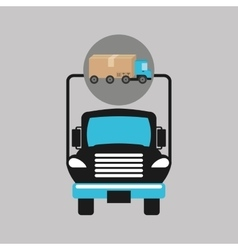 Delivery truck concept transportation icon vector