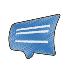 drawing blue bubble speech dialogue talk vector image