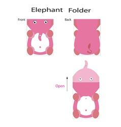 folder elephant vector image