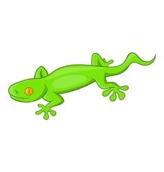Green gecko lizard icon cartoon style vector image