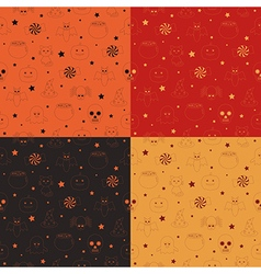 halloween patterns vector image vector image