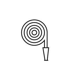 hose icon vector image