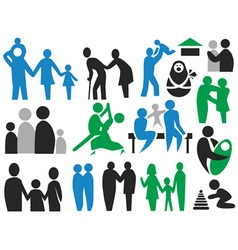 icons family vector image vector image