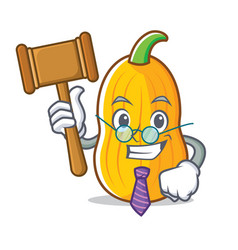 Judge butternut squash mascot cartoon vector