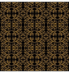 Linear pattern in baroque and rococo style vector image