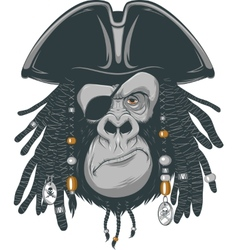 Monkey harsh pirate vector