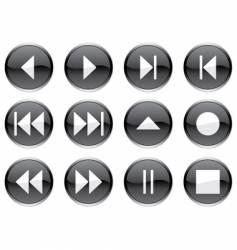 Multimedia navigation buttons vector