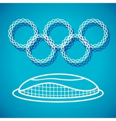 Olympic stadium vector
