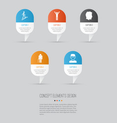 Person icons set collection of male grandpa vector