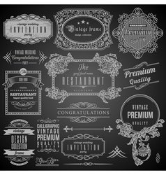Retro Calligraphic design elements vector image vector image