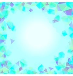 Shades of cyan blue abstract polygonal geometric vector image vector image