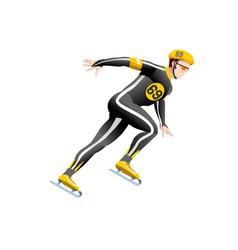 short track speed skating vector image