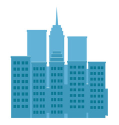 Skyscrapers buildings towers city business vector