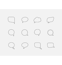 Speech line bubbles vector image vector image