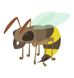 Wasp icon cartoon style vector