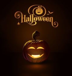 Jack o lantern dark happy vimpire vector