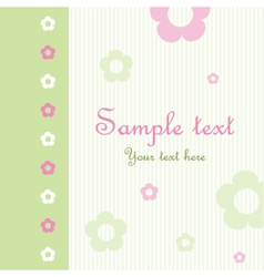 Floral pattern greeting card vector