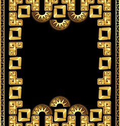 Frame in the style of gold of the incas vector
