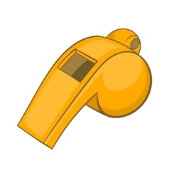 Whistle of referee icon cartoon style vector