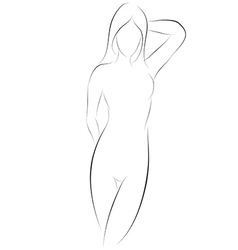 Sexy girl pose graphic vector