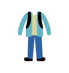 color silhouette with male clothing worker vector image