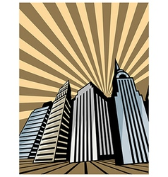 Skyscraper towers vector