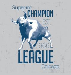 Superior chicago champion poster vector
