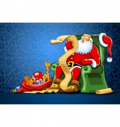 Santa Claus background vector image