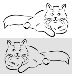 Sketch of a cat vector